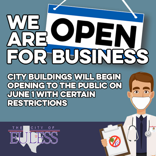 Some City Buildings Will Open on June 1